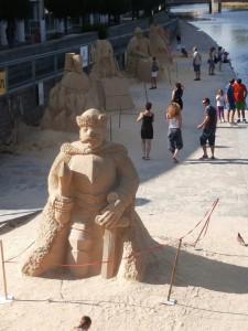pískové-sochy-v-Písku-výlety-v-okolí-penzionu-Fořtovna-jižní-Čechy