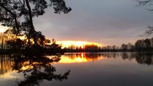 rybník Nový, penzion Fořtovna, Písecko, jižní Čechy