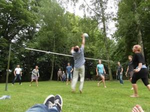 volejbalové hřiště, penzion Fořtovna, Písecko, jižní Čechy